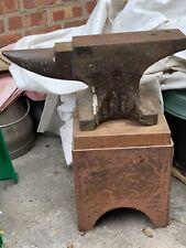 More details for john brooks vintage blacksmiths anvil 1049 with stand