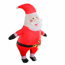 Santa Claus Christmas Inflatable Costume Suit Outfit w/Air Fan Party Cosplay