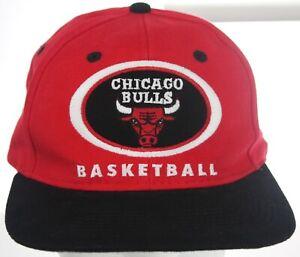 NWOT Vintage 1990s Drew Pearson Chicago Bulls NBA Basketball Hat Snapback Cap