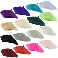 HatToSocks Wool Blend French Beret for Men and Women in Plain Colours