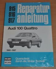 AUDI 100 Typ 44 C 3 Quattro ab 1985 Motor Getriebe Reparaturanleitung B915 OVP
