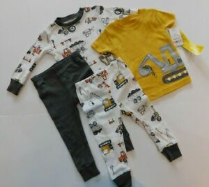 NWT Carter's Baby Boy 4Pc Construction Pajama Set 18M MSRP$36 New Free Shipping