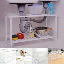 Kitchen Under Sink Storage Adjustable Removable Organiser Tidy Unit Shelf Rack