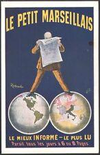 Cappiello. Presse. Le petit Marseillais. Planisphère. 1911