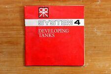 Vintage Paterson System 4 Developing Tanks Owner/User Instruction Manual
