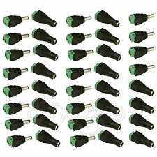 40pcs for Cctv Led Male Female 2.1x5.5mm Dc Power Jack Plug Adapter Connector