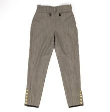 Hermes Pant Vintage Riding 5 Coveted Gold Clou de Selle Ankle Snaps 38 / 4 to 6