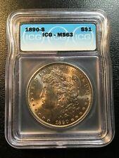 1890 S MORGAN DOLLAR ICG MS-63 - UNCIRCULATED - BETTER DATE - CERTIFIED SLAB -$1