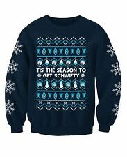 Rick and Morty Inspired Adults Novelty TV Christmas Sweatshirt Jumper X-large 46-48inch Chest