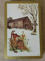 Vintage Playing Cards - Gold Edged With Old Barn - Full Deck