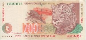 South Africa  banknote  P127b  200 Rand  sig 8  PFX AA  VERY FINE    We combine