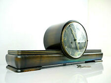 Rare Mantel Clock Chime HAID Vintage German Clocks 8 Days Collectables Winder