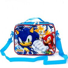 New Sonic The Hedgehog Insulated Lunch Bag Cooler Blue Sega