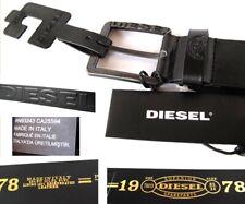 New Diesel Mens Belt Black Poldo1 X06830 Gunmetal Buckle Size 32 -ITALY $68.00