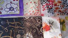 Joblot 40pcs Faux silk scarf/scarves NEW wholesale 50x50 cm Lot A5