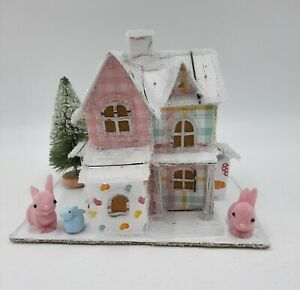 Hippity Hoppity Bunny Paper Putz House