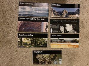 Lot Of 7 National Park Brochures