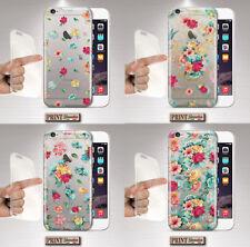 Cubierta para ,IPHONE,Transparente,Silicone,Suave,Funda ,Flores,Colores,Donna ,