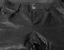 "Guess jeans Black Snakeskin pattern women's size 26 apx 31""inseam"