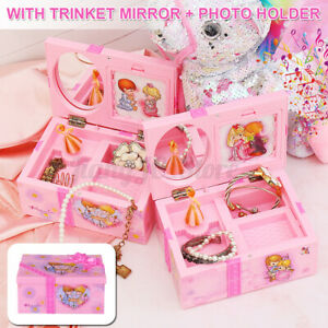 AU Music Box Kids Musical Jewellery Rectangle with Romantic Ballerina for Girls