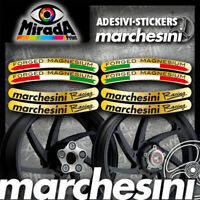 Adesivi Stickers MARCHESINI FORGED MAGNESIUM RACING ORO MOTO ITALIA FLAG TOP