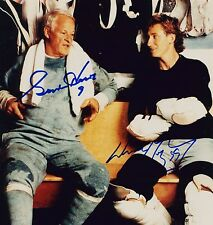 Autographed Gordie Howe and Wayne Gretzky Locker Room Photo