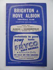 More details for brighton v huddersfield town | 1959/1960 | div. 2 | 2 sep 1959 | uk freepost