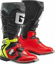 GAERNE REACT RED/YELLOW/BLACK MX BOOTS, ENDURO, TRAIL & OFF ROAD BOOTS