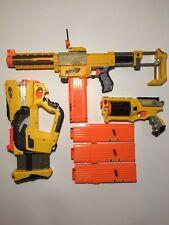 Nerf Gun Blaster Toy Lot 4 Extended Clips Maverick Firefly Recon CS-6