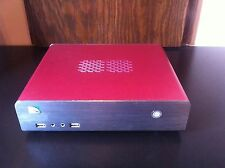 Mini HT PC HDMI w/Intel Atom D2700 2.13 GHz 2 GB DDR3 RAM 64GB SSD Ubuntu Red
