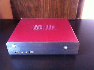 Mini HT PC HDMI w/Intel Atom D2700 2.13 GHz 2 GB DDR3 RAM 64GB SSD Ubuntu Red