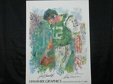 Leroy Neiman & Joe Namath Signed New York Jets Lithograph JSA X 92244