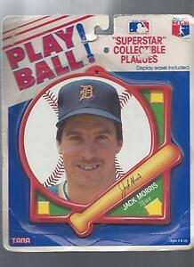 PLAYBALL SUPERSTAR COLLECTIBLE MLB PLAQUE JACK MORRIS DETROIT TIGERS  VF