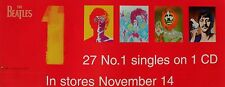 "BEATLES ""1's 27 NO. 1 SINGLES - IN STORES NOVEMBER 14"" U.S. PROMO BANNER/POSTER"