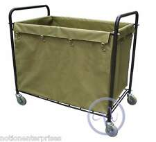 Housekeeping Laundry Hamper Bulk Truck / Linen Trolley Cart
