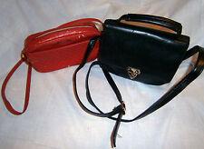 Croft & Barrow black shoulder bag & red shoulder bag - GC