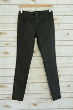 NWOT Mossimo POWER STRETCH Painted black MID-RISE skinny denim jeans sz 0/25