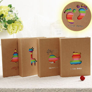 7inch 100-Pocket Cute Cartoon Photo Picture Storage Album for Kids Children Gift