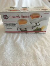 Norpro Ceramic Butter Warmers Set of 2 - Holds 3oz of Melted Butter