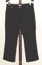 Levi's 550 Relaxed Boot Cut sz 16 S Short Black Denim Jeans