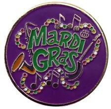 Mardi Gras Jazz Golf Ball Marker with Mardi Gras Hat Clip
