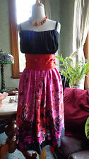 ENCHANTING CITY CHIC NWT NEW ORIENTAL MULTICOLOR RUCHE TULLE SATIN DRESS PLUS XL