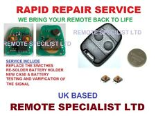 Rover 25 45 Land Rover 2 Button Remote key fob Repair service fault fix Switches