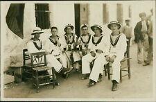 HMS Chrysanthemum Sailors 1924 Jeffries Deavall Midland Named Verso   QZ.486