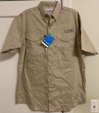 NWT Columbia PFG Bonehead Logo Vented S/S Button Front Shirt Men's Sz M!