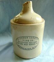 Steuben County Wine Co. Rare Antique 1/2 Gal Advertising Jug Red Wing Stoneware
