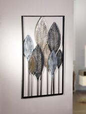 "Metall-Bild ""Blätterwald"", Wandbild aus Metall, 52cm x 95cm, Deko-Bild"