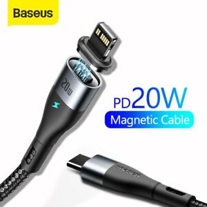 Baseus 20W Magnetic USB Type C to Lighting Charging Cable for iPhone 12 Pro Max