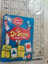 Dr. Seuss Flash Cards Shapes Colors 40 Cards Homeschool Teaching