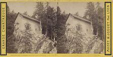 Grande Chartreuse Chapelle St Bruno Photo stéréo Vintage albumine c 1870